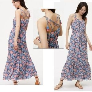 Ann Taylor LOFT Wildflower Maxi Dress XS 0-2